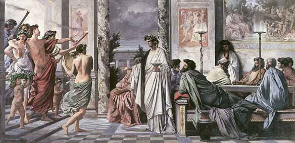 Plato's Symposium (painting by Feuerbach)