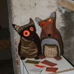 Handmade Toys as a Decore to the Exhibition