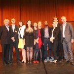 Teju Cole and His Translator Christine Richter-Nilsson (fourth from the left) With the Jury