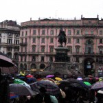 Drenched in Milan