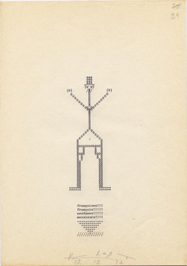 Henri Chopin, La crevette amoureuse, 1967-1975 (Courtesy of Supportico Lopez, Berlin)