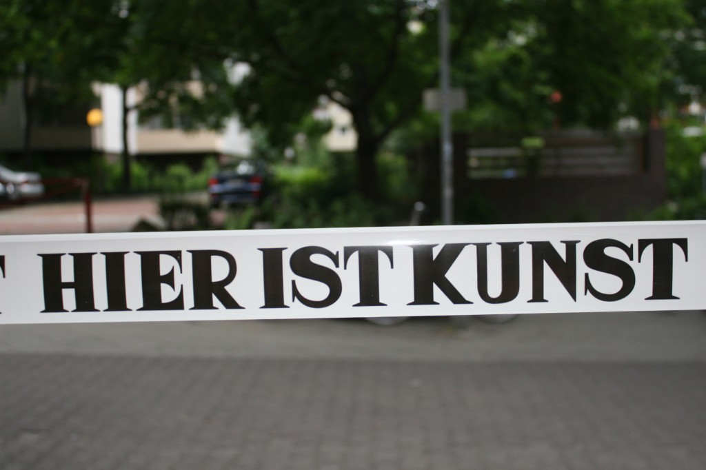 'Hier ist Kunst' - this year's festival motto