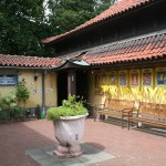 Entrance to the Library and the Meditation Hall.