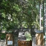 The Gate to Das Buddhistisches Haus in Edelhofdamm