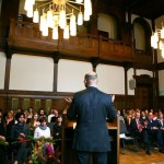 Thomas Rommel announces the speech of Leon Botstein