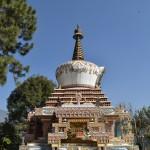 A stupa in the yard of Kopan monastery