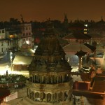 Patan Durbar Square at night (long exposure)
