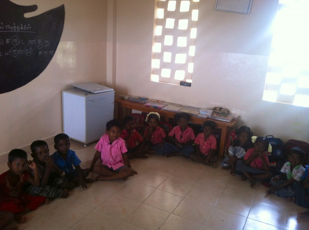 Children gearing up for class