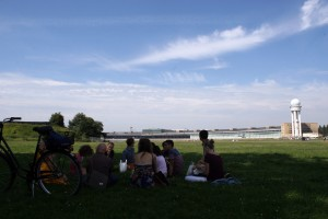 Picnic in the Tempelhofer Park.