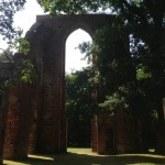 The ruins of Eldena Abbey