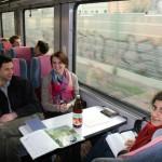Train ride back to Berlin