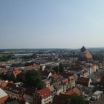 View of Greifswald from the top of Dom St. Nikolai