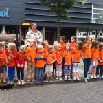 Day 1- Promotion work and torch relay. Pictured- future Dutch Olympians. (Photo: Anggêr Jamung)
