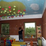 The visitors of Ecofutura can bring their children here to draw or play games together - under the supervision of an adult from the village. One its inhabitants is also a local artist - and a very talented one, with a strong