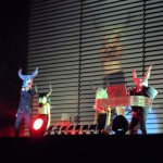 Pet Shop Boys kept constantly changing their outfits within a big variety of artsy costumes during their performance