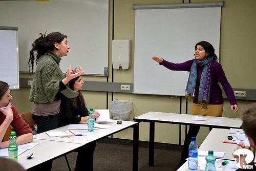Maria Khan debating