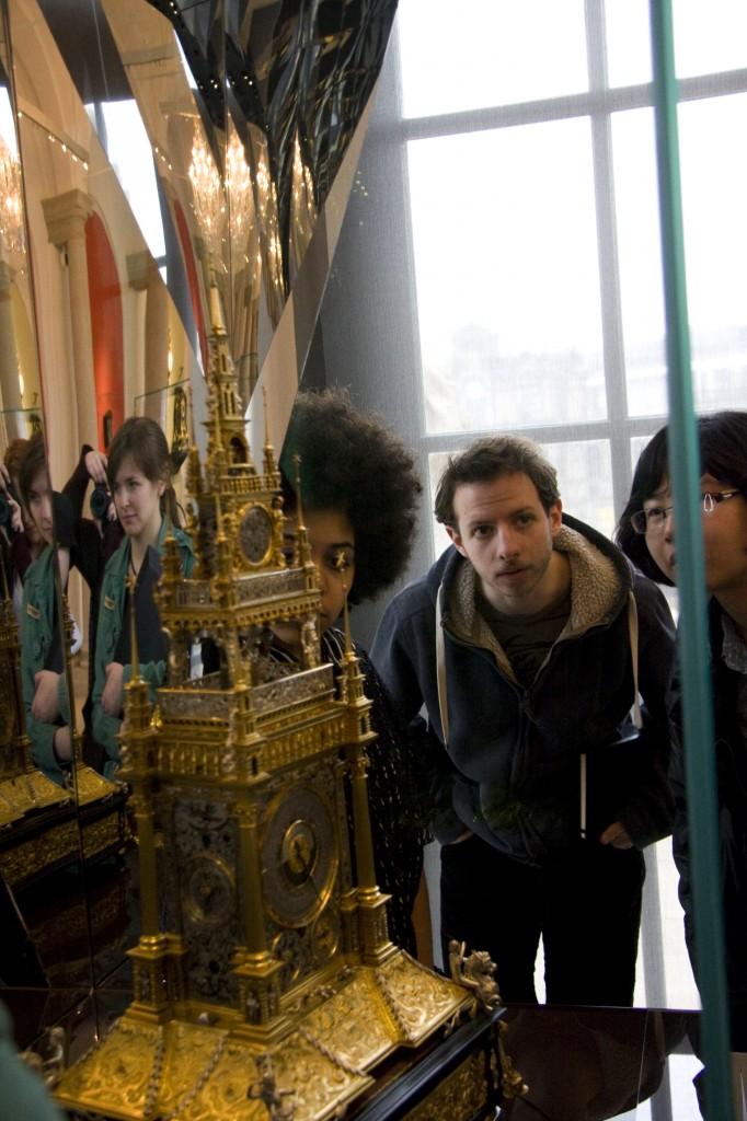 EMS students in the Mathematisch-Physikalischer Salon (Photo by Inasa Bibić)