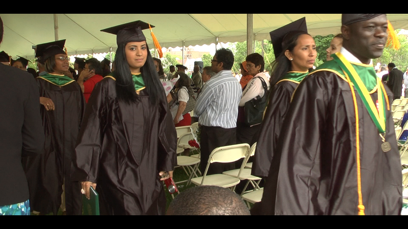 Commencement Ceremony of a Bronx Public High School (screenshot from the film)