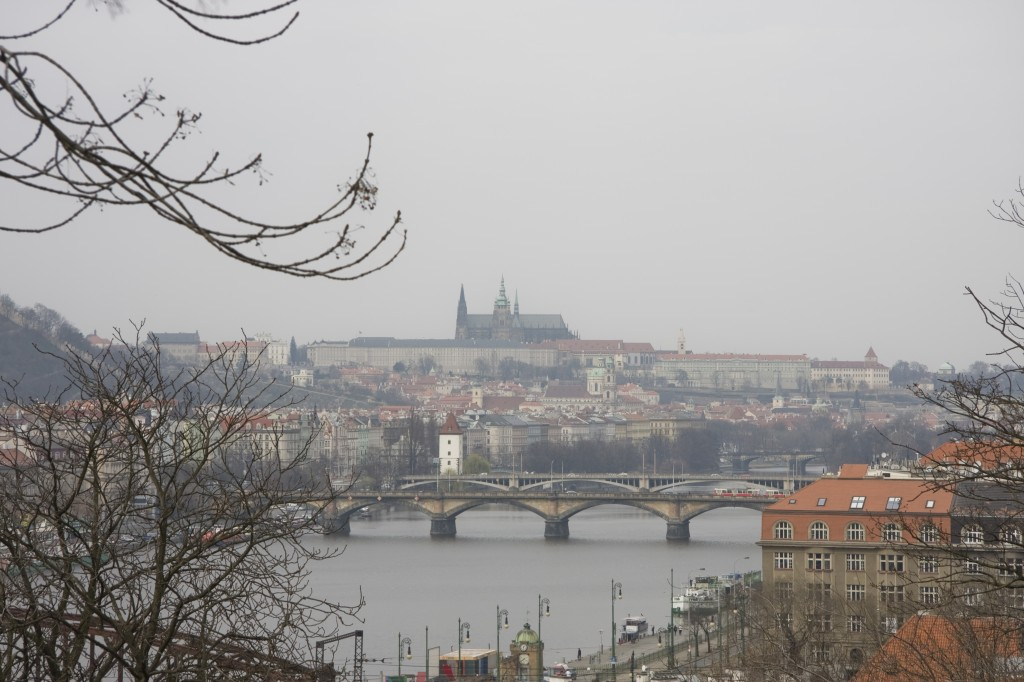 Prague covered in fog prepares for a rainy day
