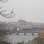 [15] Prague covered in fog prepares for a rainy day