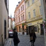 [9] Alžběta and Jimena in one of the many narrow local streets in the old part of the city
