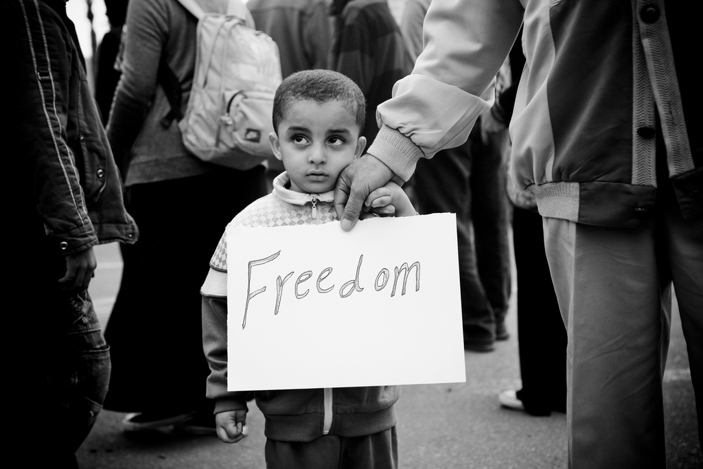 Tahrir Square, Egypt, 2011 (photo by Hossam el-Hamalawy)
