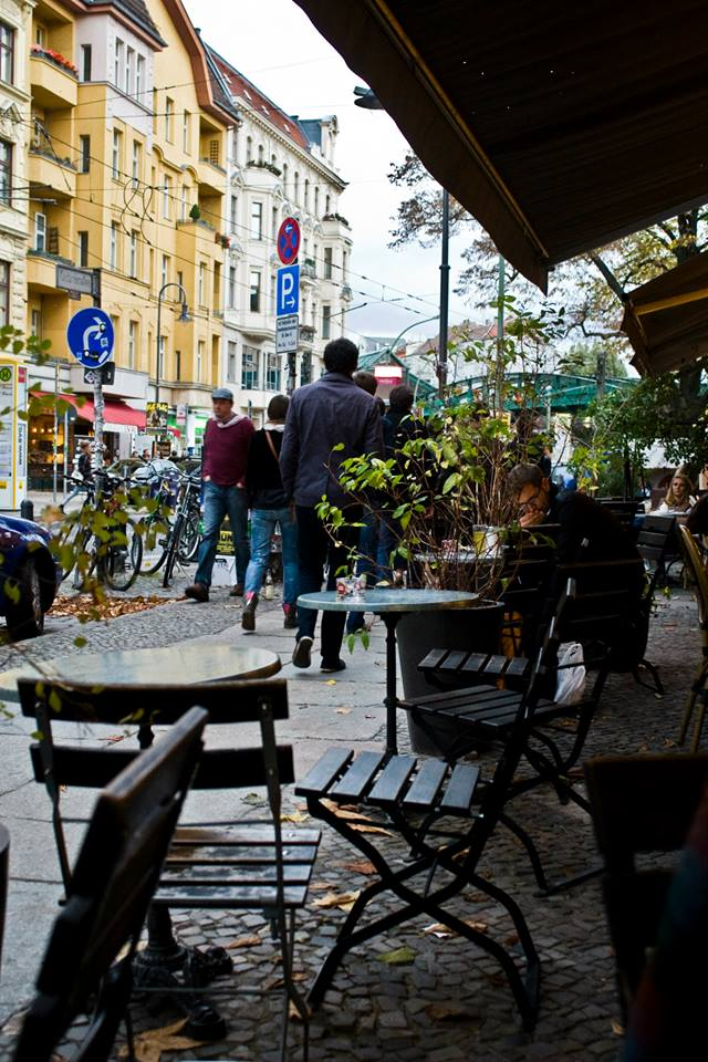 One of the many cafes at Eberswalder Strasse (photo by Inasa Bibic)