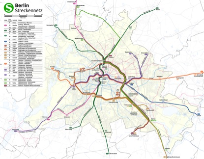 The entire Berlin S-Bahn network