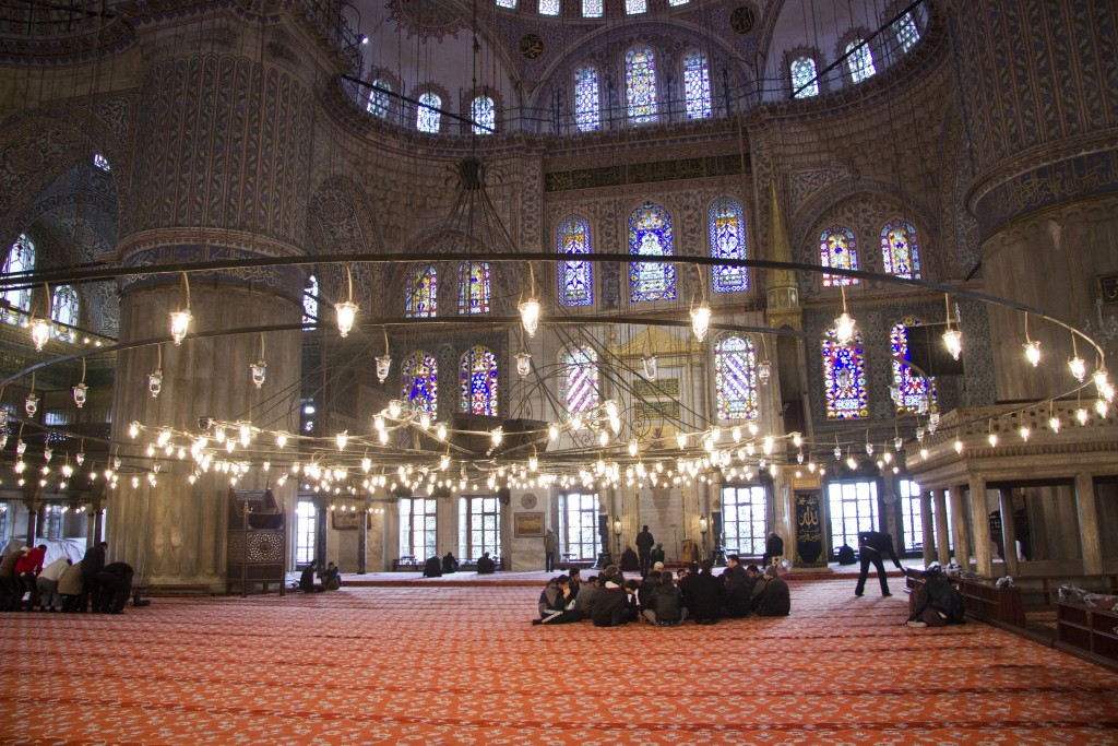The Blue Mosque is most famous for (and named after) the blue tiles decorating its interior walls. Photo: Inasa Bibic
