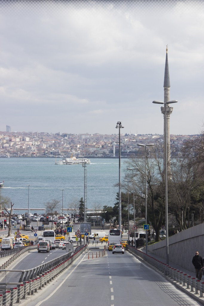 The Bosphorus strait from the bus. Photo: Inasa Bibic