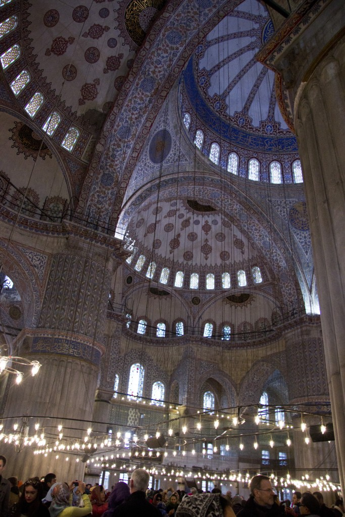 The interior of the Blue Mosque. Photo: Inasa Bibic