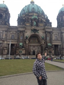 Nick enjoying the historic sights of Berlin.