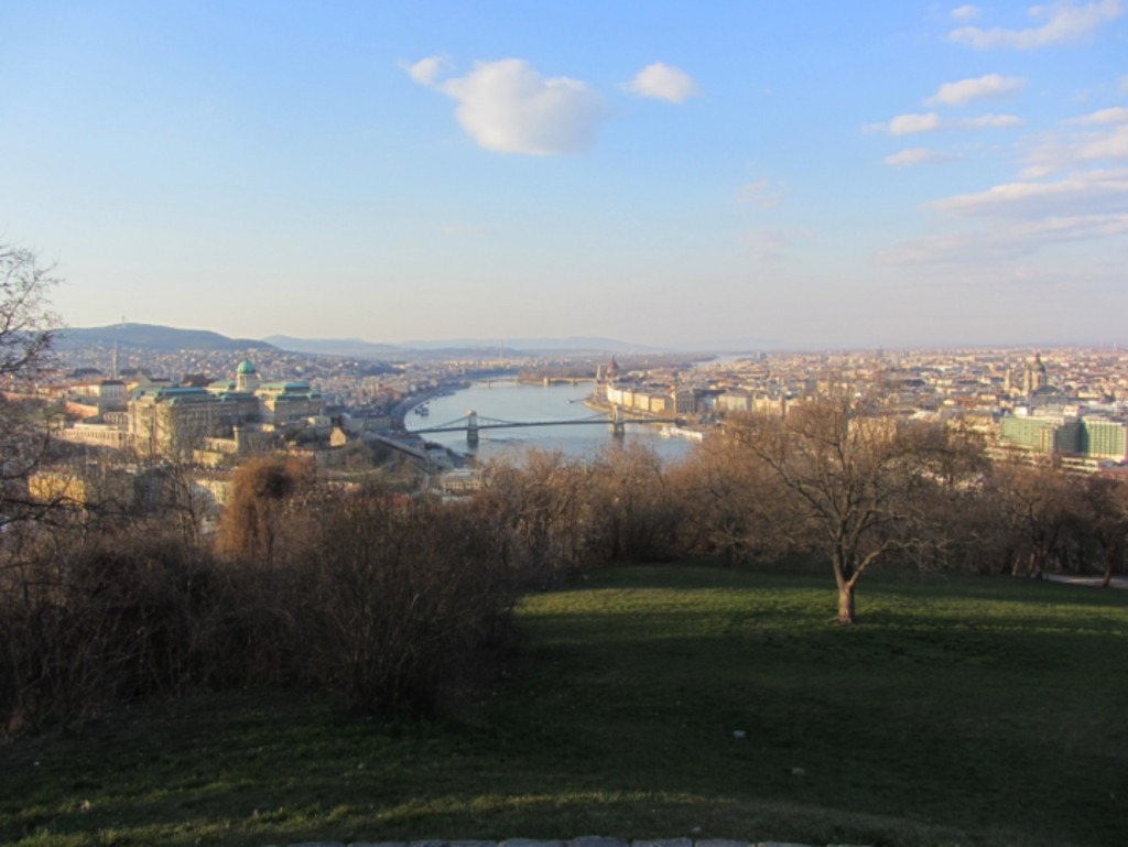 The view of Budapest from Gellert Hill.