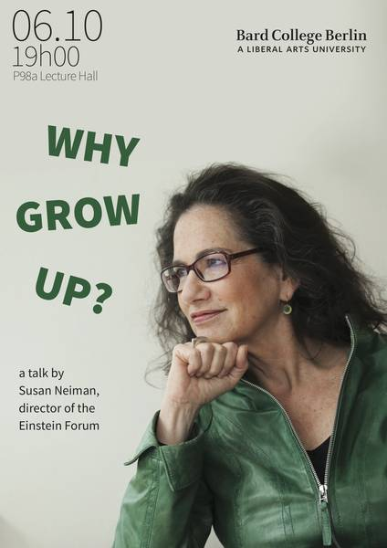 Susan Nieman on Why Grow Up (credit: BCB promotional poster)