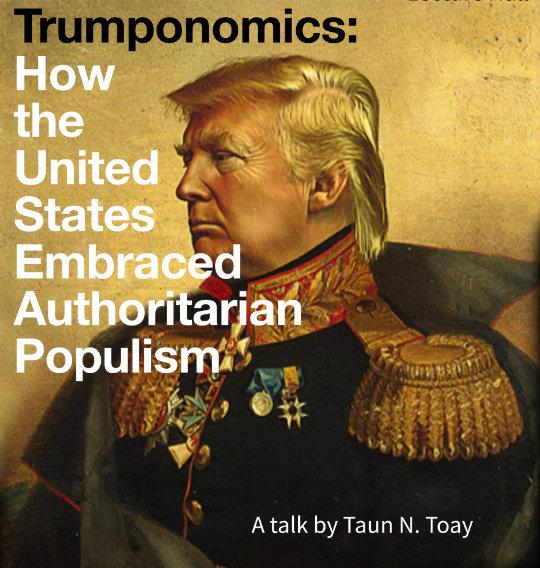 Trumponomics lecture poster (Credit: Bard College Berlin)