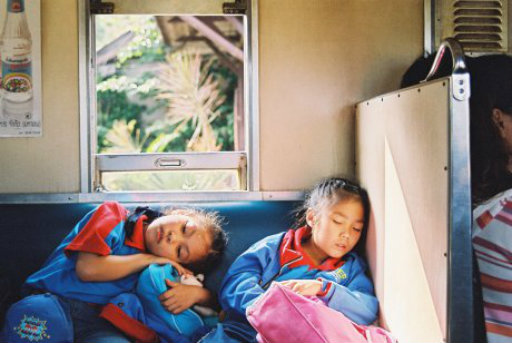 Two girls nap on a sleeper train in Railway Sleepers Credit: World Film Festival of Bangkok