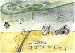 "Die Windhose: the tornado, literally the ""wind-hose"""