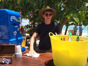 Alex Beatty as shave ice boy. (Credit: Mrs Beatty)