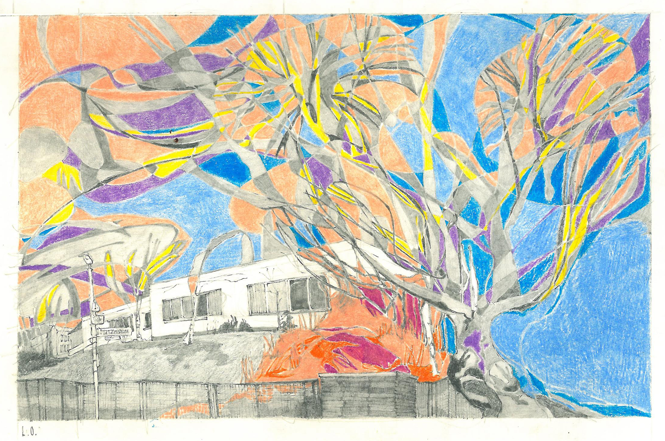 Spring on the BCB campus (drawing by Liza Ostrovska)