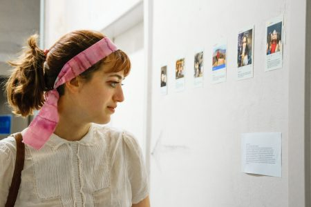 Sarah at the Open Studios (credit: Vera Yung)